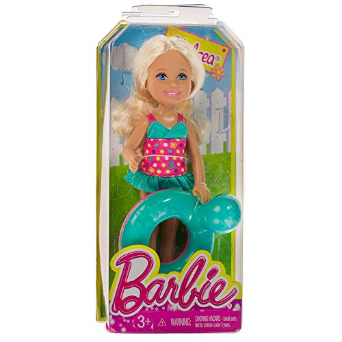 "Chelsea w/ Turtle Inner Tube: Barbie Chelsea & Friends Pool Collection ~5.25"" Doll Figure - 1"