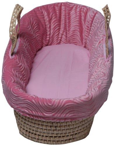 Imagen de Baby Doll Bedding Water Wave Moisés Basket, Pink