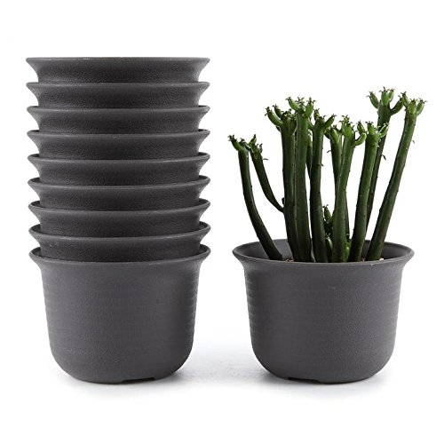 t4u-11cm-plastic-round-sucuulent-plant-pot-cactus-plant-pot-flower-pot-container-planter-tan-package