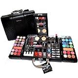 Exclusive Kosmetik Make-up Kunstleder Beautycase SCHMINKKOFFER gefüllt 63 teilig (Koffer Außenmaße ca.: L-29cm x B-24cm x H-8cm) Schminke Koffer In dieser praktischen, stabilen und komfortablen Kunstleder Make-up & Schminke Beautycase fin...