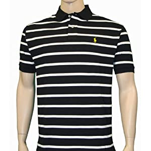 POLO Ralph Lauren Mens Mesh Stripe Polo Shirt