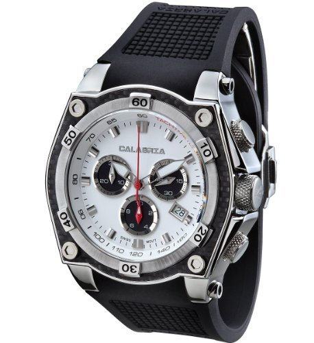 CALABRIA - SIGNORE - White & Black Dial Chronograph Men's Watch