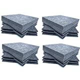 48 Pack Set Acoustic Absorption Panel, 12 X 12 X 0.4 Inches Grey Acoustic Soundproofing Insulation Panel Tiles, Acoustic Treatment Used in Home & Offices (Tamaño: 48 Pack)