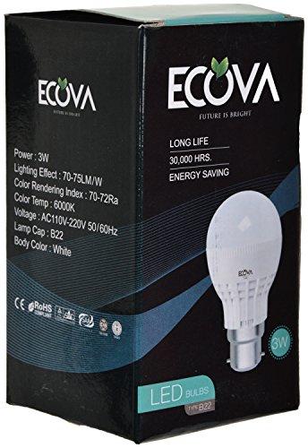 Ecova-3W-B22-LED-Bulb-(White)