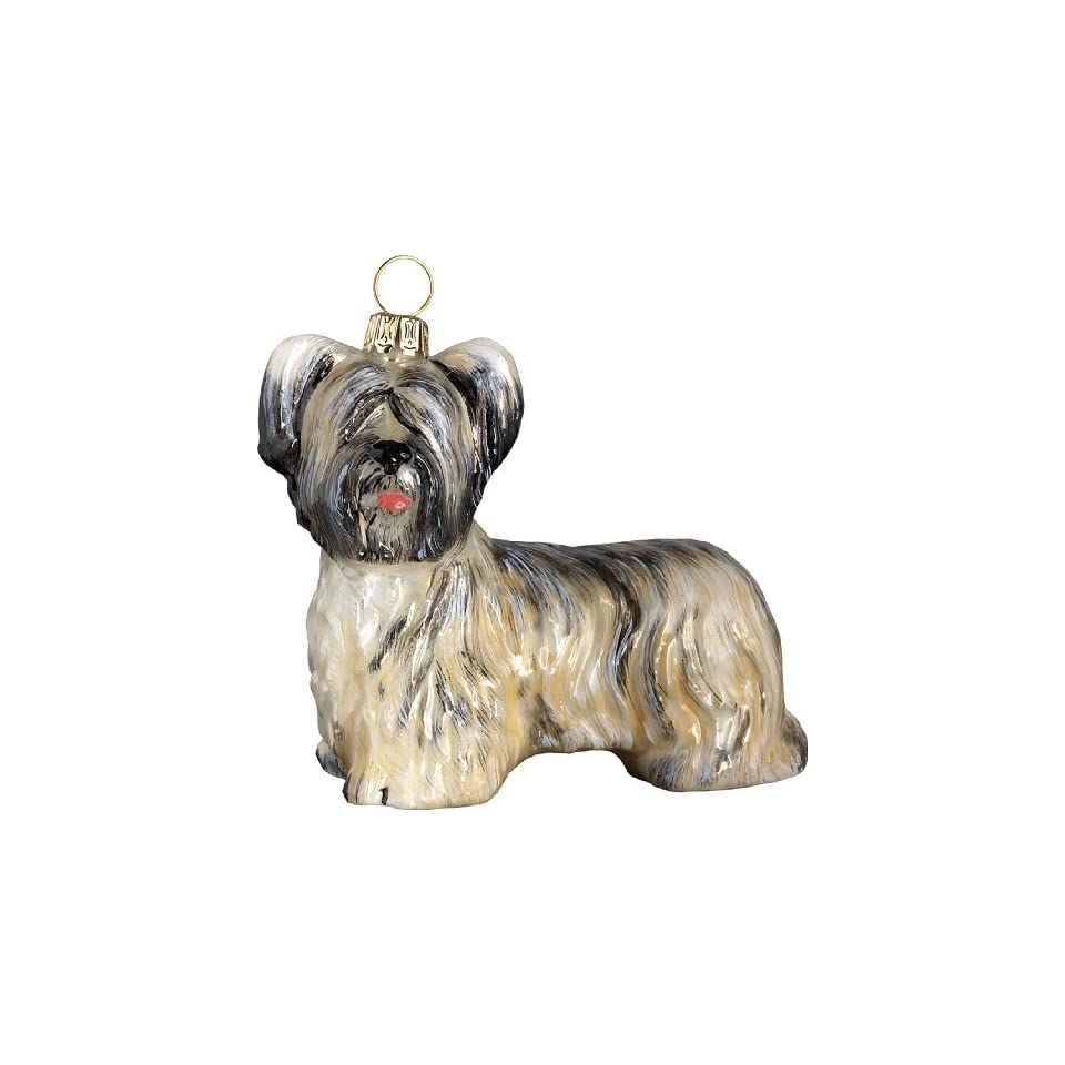 The Pet Set Blown Glass European Dog Ornament By Joy To The World Collectibles   Skye Terrier