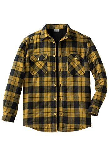 Kingsize Men's Big & Tall Plaid Flannel Work Shirt Jacket