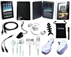 TsirTech 15-Item Accessory Bundle for Apple iPad 4G Lite 3G tablet / Wifi model 16GB, 32GB, 64GB(Compatiable with iPad 2,iPad 3)