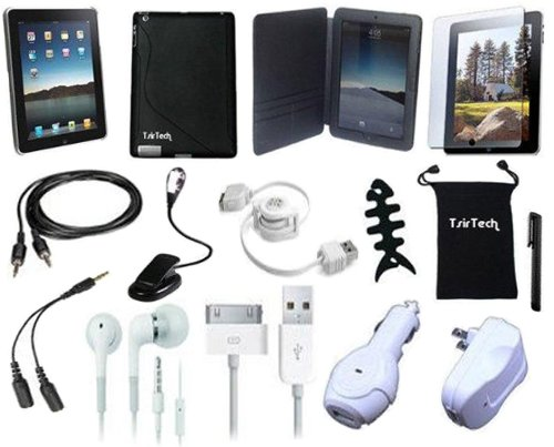 TsirTech 15-Item Accessory Bundle for Apple iPad 1 3G tablet / Wifi model 16GB, 32GB, 64GB