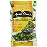 Annie Chun's Seaweed Snacks, Roasted Sesame, 0.35-Ounce Packages (Pack of 12) by Annie Chun's