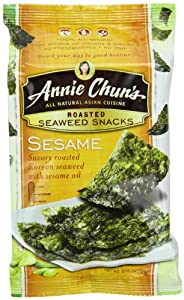 Annie Chun's Seaweed Snacks, Roasted Sesame, 0.35-Ounce Packages (Pack of 12)