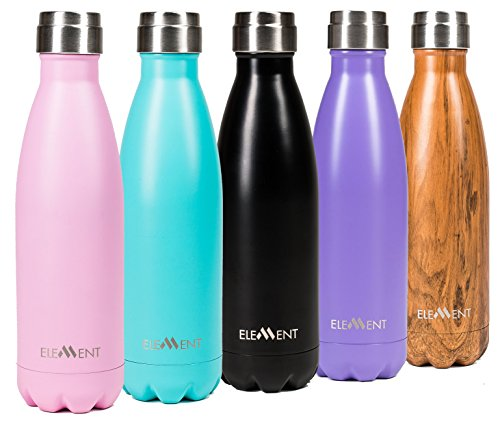 Element Insulated Stainless Steel Water Bottle - BONUS Xmas Gift Box Included ! (Non Toxic Water Bottle compare prices)