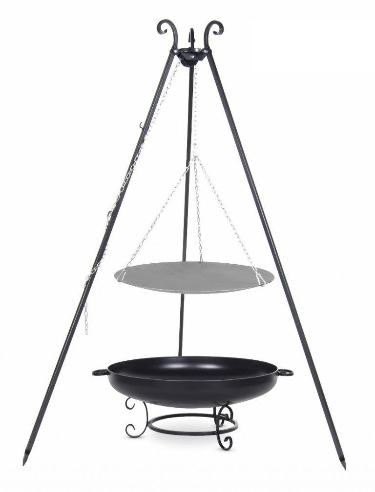 Lagerfeuerpfanne 56 cm auf Dreibein, inkl. Feuerschale # 37, 60 cm bestellen