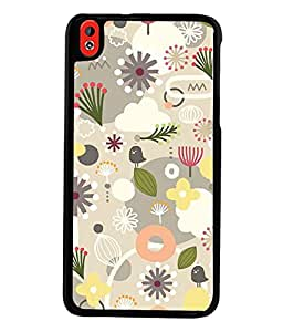 Fuson Premium Seeds And Flowers Metal Printed with Hard Plastic Back Case Cover for HTC Desire 816 816G