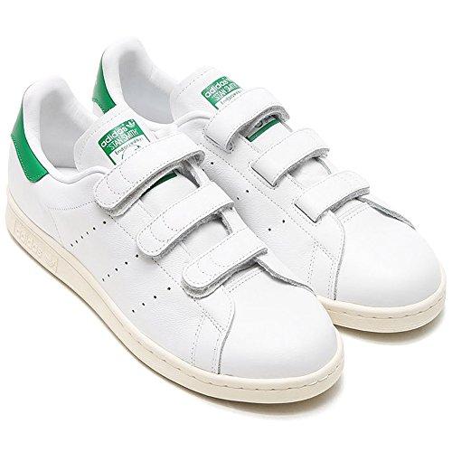 アディダス adidas スタンスミス CF TF コンフォート ベルクロ ホワイト×グリーン 26.5cm AQ5357