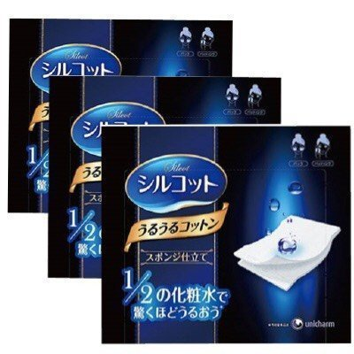 unicharm-silcot-uruuru-sponge-facial-cotton-40-sheets-3-packs-3
