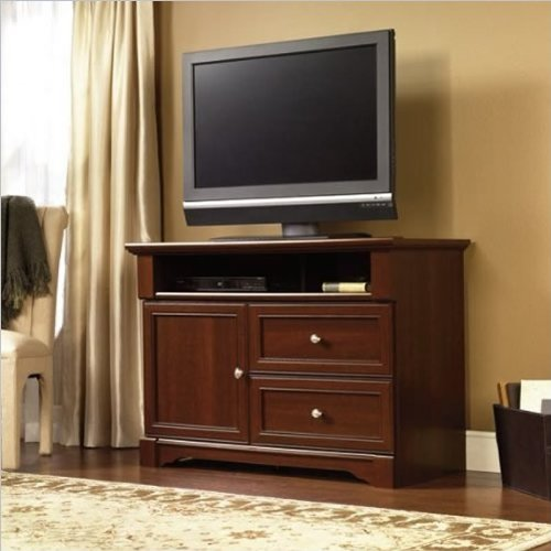 Sauder Palladia High Boy Tv Stand, Select Cherry Finish front-1009329