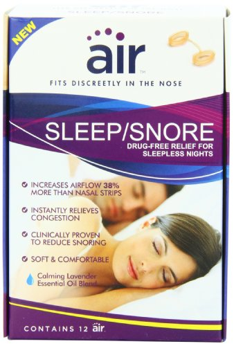 Air Sleep and Snore Advanced Nasal Breathing Aid, 12 Count (Nasal Inserts compare prices)