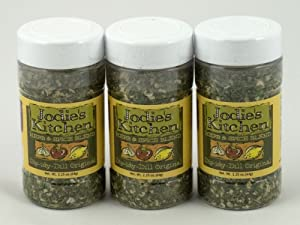 Jodie's Kitchen Low Salt Low Sugar MSG & Gluten Free Herb Spice Blend Dip-idy Dill Pack of 3 64 g 2.25 oz each from Kitchen Fusions