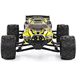 GPTOYS RC Cars S912 LUCTAN 33MPH 1/12 Scale Electric Monster Hobby Truck With Waterproof Electronics, Remote Control Off Road Yellow Truggy Toys