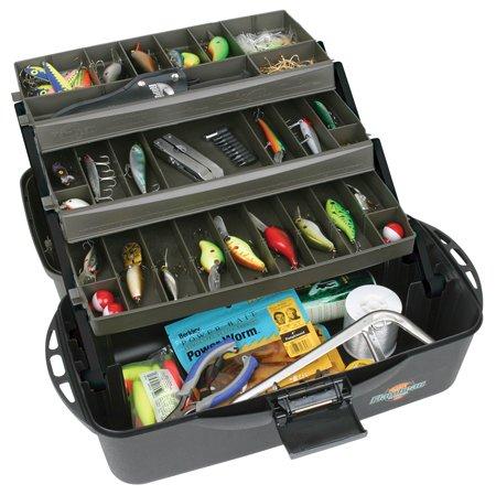 Flambeau Tackle XL 3 Tray Tackle Box (Black/Dark Gray(Black/Dark Gray, 20x10.25x10.375-Inch)