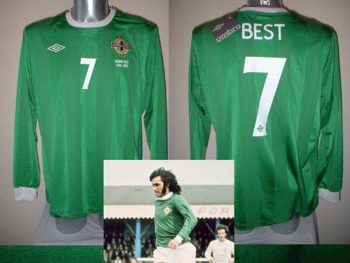 L'Irlanda del Nord, motivo Manchester United, George Best Maglia calcio adulti XL BNWT maniche lunghe Manchester United