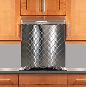 quilted stainless steel backsplash various