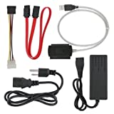 SANOXY A12940 SATA/PATA/IDE Drive to USB 2.0 Adapter Converter Cable (Color: BLACK, Tamaño: Drive to USB 2.0 Adapter)