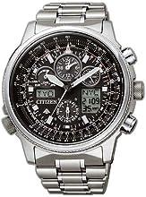 Comprar Citizen Promaster Skyhawk JY8020-52E - Reloj cronógrafo de cuarzo para hombre, correa de titanio color plateado