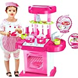 Odd Even Kids Luxury Battery Operated Kitchen Super Set Toy With Light And Sound Carry Case