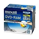 maxell 録画用 DVD-RAM 120分 3倍速対応 インクジェットプリンタ対応ホワイト(ワイド印刷) 20枚 5mmケース入 DM120PLWPB.20S
