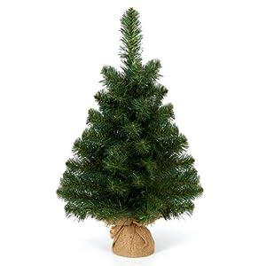 Burlap Green Table Christmas Tree