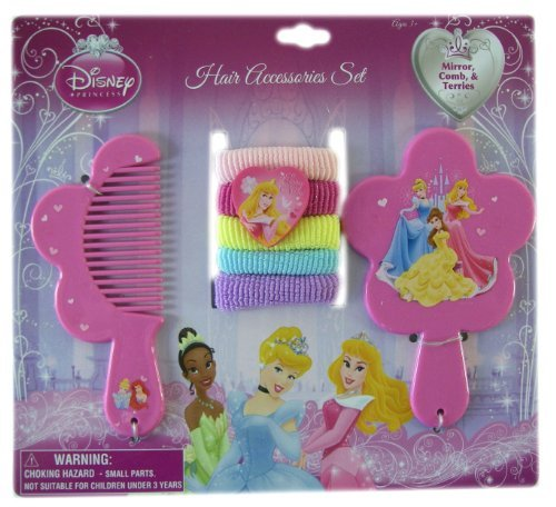 Disney Princess 7pc Hair Accessory Set - Vanity Set - Princess Hair Set