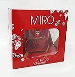 MIRO RED Diamonds Geschenk Set: Eau de Parfum Natural Spray 50 ml + Perfumed Bath and Shower Gel 150 ml + Body Lotion 150 ml