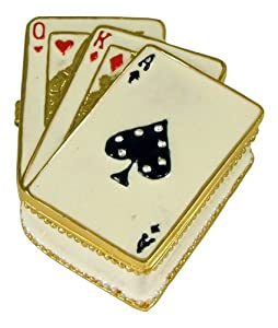 Poker Ace of Spades Poker Playing Card Deck Trinket Box