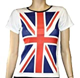 UK Union Jack United Kingdom Flag Tshirt - Available In S/M, M/L, XL & XXL.