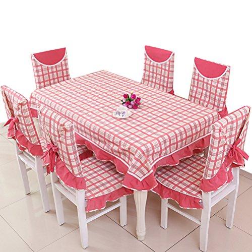 Nasis Nappe/Couverture/Tapis De Table Aux Carreaux En Coton Style Frais En Dentelle 130x180cm AL8068 (rouge)