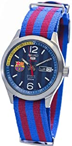 Unisex Watch Seiko SRP303 Barcelona F.C Barcelona Stainless Steel Case Automatic