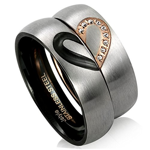 jstyle stainless steel eternity band rings