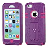 iPhone 5C Natural Phantom Hybrid Protector Cover - LIFETIME WARRANTY (Purple/Hot Pink)
