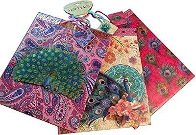 Punch Studio 3 Gift Bag Set Peacock 75818