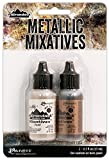 Ranger Adirondack Alcohol Ink Metallic Mixatives, 1/2-Ounce, 2-Pack, Pearl and Copper image