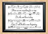 30 Seconds To Mars 'End of the Beginning' Song Sheet Lyrical Art Print A4 Size