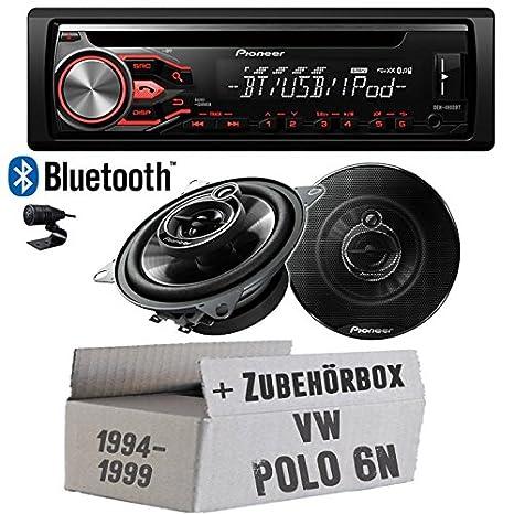 VW polo 6N-pioneer dEH-radio bluetooth 4800BT & front 10-tS g1033i parleur cm kit