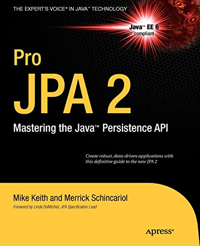 Pro JPA 2: Mastering the Java(TM) Persistence API (Expert's Voice in Java Technology) PDF