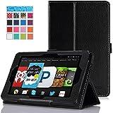 MoKo Amazon Kindle Fire HD 6 2014 Case - Slim Folding Cover Case for Amazon Kindle Fire HD 6 Inch 2014 Tablet, BLACK