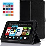 MoKo Amazon Kindle Fire HD 6 2014 Case - Slim Folding Cover Case for Amazon Kindle Fire HD 6 Inch 2014 Tablet, BLACK