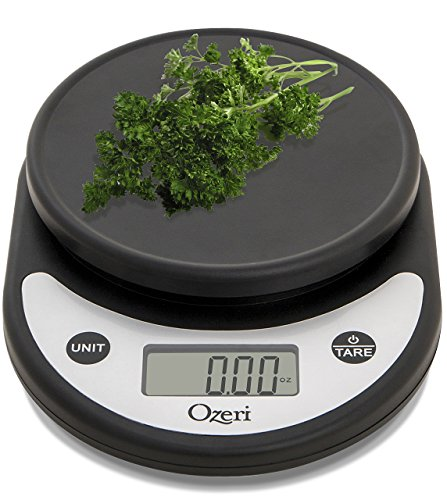 Ozeri ZK14-AB Pronto Digital Multifunction Kitchen and Food Scale, Silver On Black (Electronic Weight Kitchen compare prices)