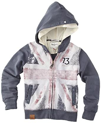 Pepe Jeans - Sheldon - Sweat-shirt à Capuche - Garçon - Gris (Storm Grey) - 6
