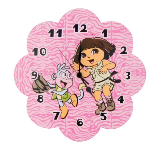 Trend Lab Nickelodeon Dora The Explorer Wall Clock, Exploring The Wild (Discontinued by Manufacturer)