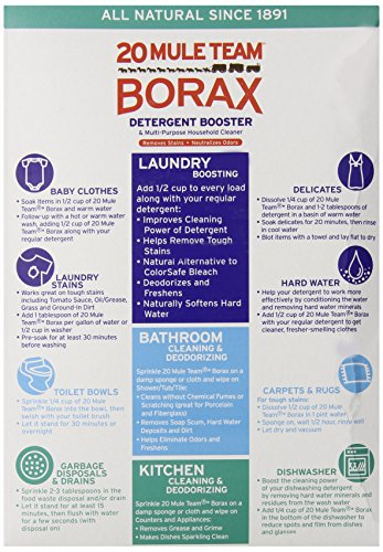 20 Mule Team Borax Natural Laundry Booster 75 Oz Black Mold Removal Products